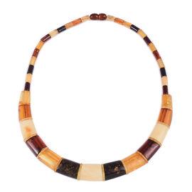 16 Inch Multi Colour Amber Collar Necklace 50 Ct