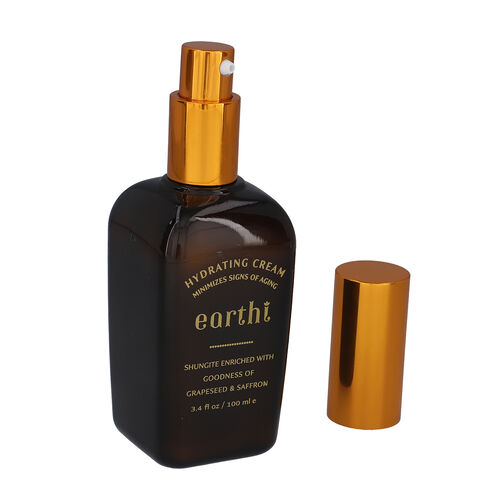 Shungite Enriched Earthi Grape Seed & Saffron Hydrating Cream with Shungite with Complementary Vetiver and Licorice serum (100ml+50ml)