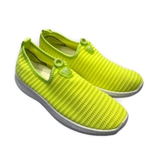 Womens Comfortable Slip-On Shoes (Size 3) - Fluorescent Green