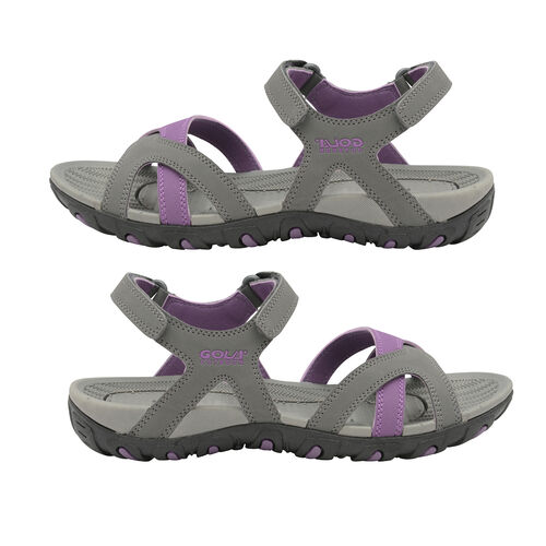 Gola Cedar Walking Sandal (Size 7) - Grey/Purple