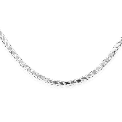 9K White Gold Hand Made Diamond Cut Tulang Naga Necklace (Size 24), Gold wt 12.75 Gms.