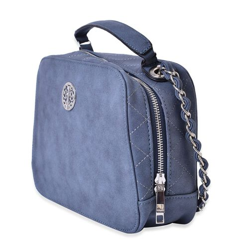 Navy Colour Crossbody Bag with Shoulder Strap (Size 23x17.5x8 Cm)