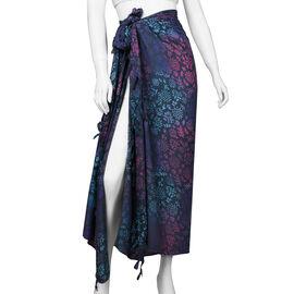 Bali Collection Printed Viscose Sarong (Size 165x120 Cm) - Black & Multi