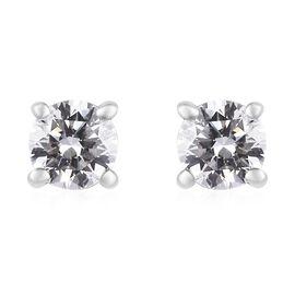 RHAPSODY 950 Platinum IGI Certified Diamond (Rnd) (VS/E-F) Stud Earrings (with Screw Back) 0.240 Ct.