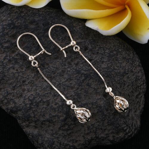 Royal Bali Collection 9K Yellow Gold Diamond Cut Hook Earrings