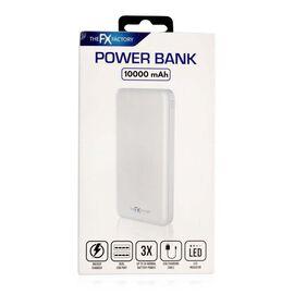 10,000 mAh Portable Power Bank - White