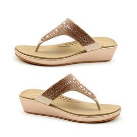 Heavenly Feet Star Toe Post Sandal in Rose Gold
