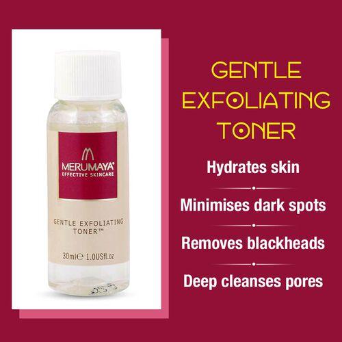 MeruMaya: Skincare Starter Set (Incl. Melting Cleansing Balm - 25ml, Gentle Exfoliating Toner - 30ml & Youth Preservation Moisturiser - 10ml)