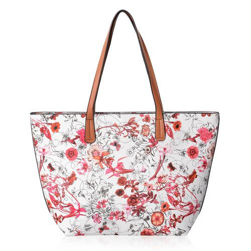 Chelsea Collection Floral Pattern Large Tote Bag(Size47x30x29x9.5 Cm)
