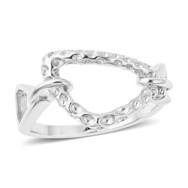 RACHEL GALLEY - Rhodium Overlay Sterling Silver Latticework Ring