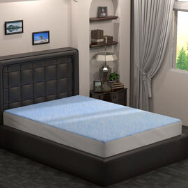 SERENITY NIGHT Smartkool Jersey Cooling Waterproof Fitted Mattress Protector King Size (150x200)