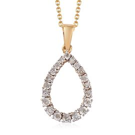 Diamond Pendant with Chain (Size 18) in 14K Gold Overlay Sterling Silver