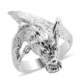 Royal Bali Collection Sterling Silver Dragon Ring, Silver wt 8.00 Gms