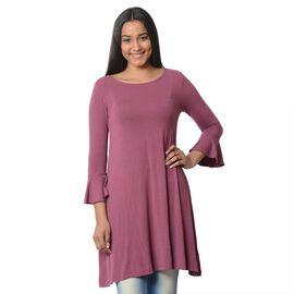 Purple Colour Flared Dress