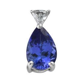 RHAPSODY 950 Platinum AAAA Tanzanite (Pear 1.700 Ct) Diamond (VS/E-F) Pendant 1.800 Ct.