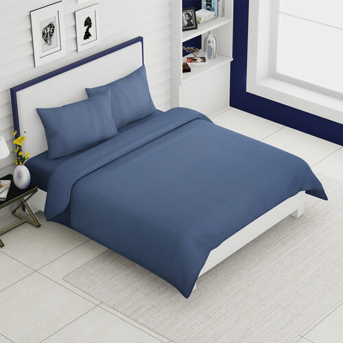 4 Piece Set - Super Soft Copper Infused 1 Fitted Sheet (140x190+30 Cm), 1 Flat Sheet (230x265cm) and