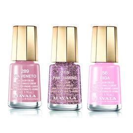 Mavala: Nude Trio - Via Veneto (289), Pink Diamond (215) & Riga (056)