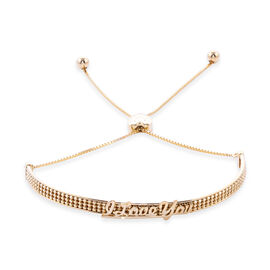Royal Bali Collection - 9K Yellow Gold Adjustable Bolo I Love You Bracelet (Size 6.5-8.5), Gold wt 3