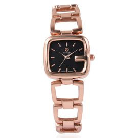 117b6686d STRADA Japanese Movement Water Resistant Bracelet Watch in Rose Gold Plated