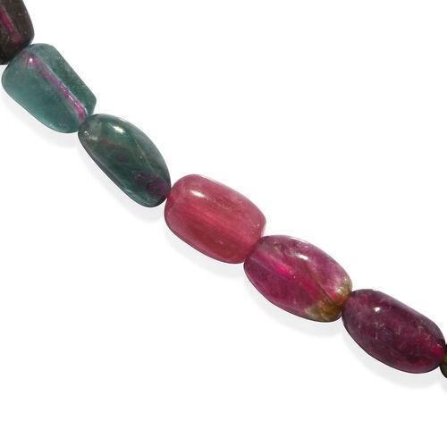 Rainbow Tourmaline Tumble Necklace (Size 20) 120.000 Ct.