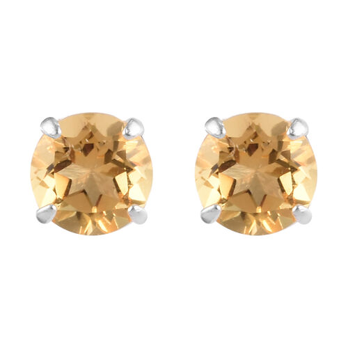 Set of 3 -  Mozambique Garnet, Amethyst and Citrine Stud Earrings (with Push Back) in Sterling Silver 3.00 Ct.