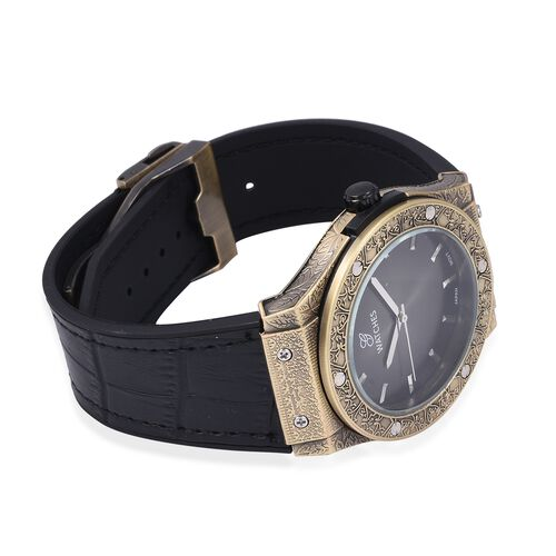 GENOA Japanese Movement Natural Stainless Steel Watch - Antique Bronze
