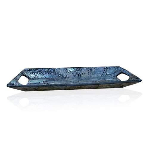 Bali Collection Home Decor - Shell Inlay Rectangle Shape Tray (Size 34X22 Cm)