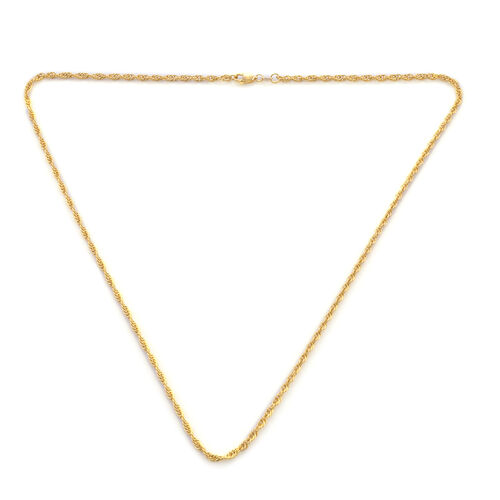 One Time Deal - ILIANA 18K Yellow Gold Special Rope Necklace (Size 20), Gold Wt 5.05 Grams
