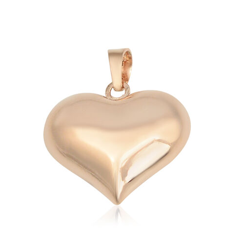 Vicenza Collection Heart Pendant in 9K Rose Gold