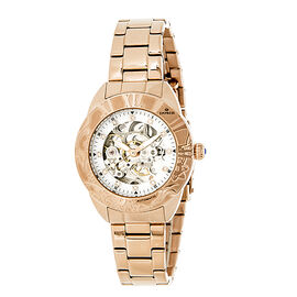 Empress Godiva Automatic Movement White Dial 10 ATM Water Resistant Ladies Watch in Rose Gold