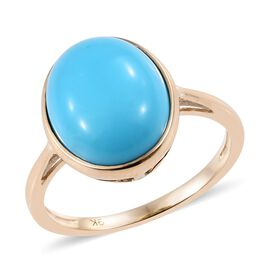 SLEEPING BEAUTY TURQUOISE (3.75 Ct) 9K Y Gold Ring  3.750  Ct.