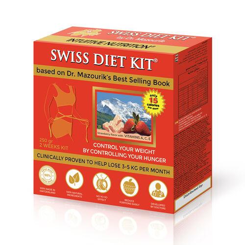 SWISS DIET KIT - 2 Weeks PACK  -  250G  -Strawberry Flavor