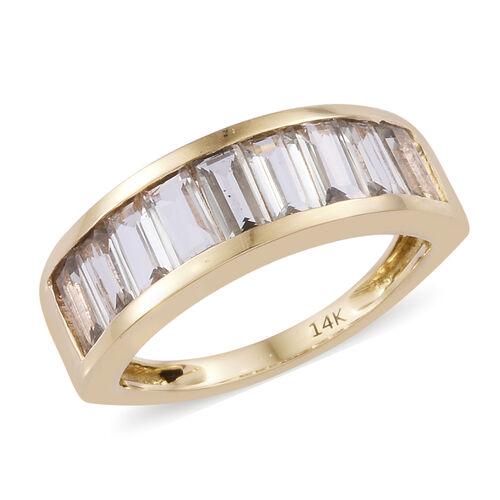 1.75 Ct AA Turkizite Half Eternity Ring in 14K Gold 3.84 Grams