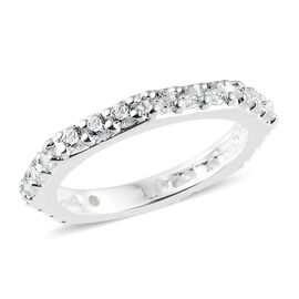 J Franics - Sterling Silver (Rnd) Ring Made with SWAROVSKI ZIRCONIA.