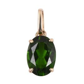 9K Yellow Gold AA Russian Diopside (Ovl 7x5 mm) Solitaire Pendant