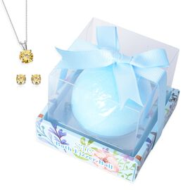 Last Stock -  Collect Them All - Surprise Bath Bomb Ocean Blue with Pendant and Earrings Set inside