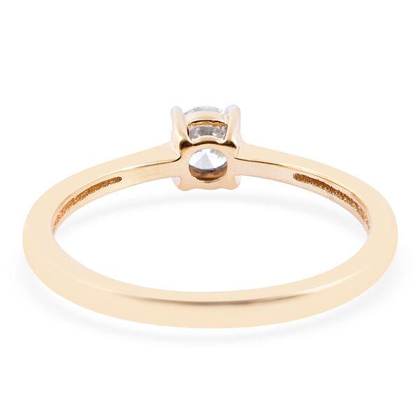 ILIANA 18K Yellow Gold IGI Certified Diamond (Rnd) (SI/G-H) Solitaire Ring 0.33 Ct.