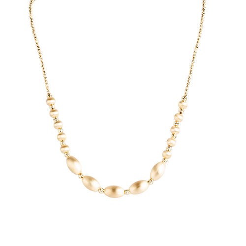 Italian Made- 9K Y Gold Diamond Cut Necklace (Size 18), Gold wt 9.79 Gms.