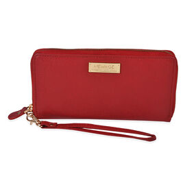 100% Genuine Leather RFID Protected Ladies Wallet (Size 20x11 Cm) - Red