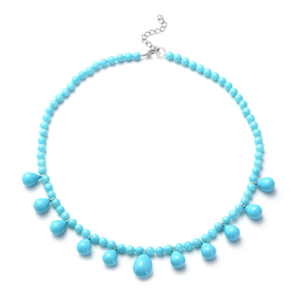 DOD - Designer Inspired Turquoise Shell Pearl  Necklace (Size 20)