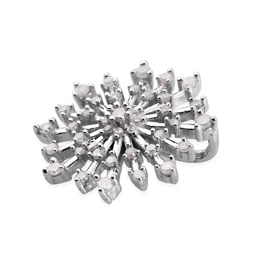 Diamond Pendant in Platinum Overlay Sterling Silver 0.25 Ct.
