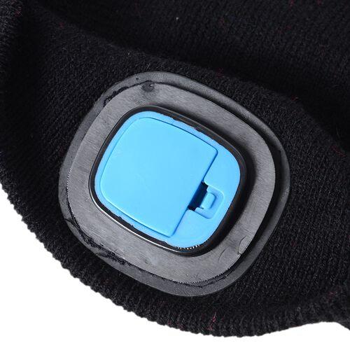 Black Colour LED Beanie Hat (Size 20x16 Cm)