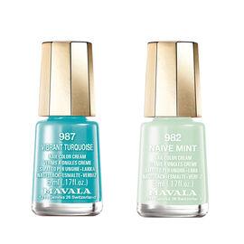 Mavala: Naive Mint - 982 & Vibrant Turquoise - 987
