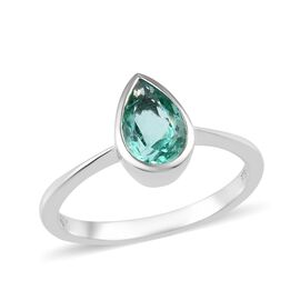 RHAPSODY 950 Platinum AAAA Boyaca Colombian Emerald Solitaire Ring 1.35 Ct.
