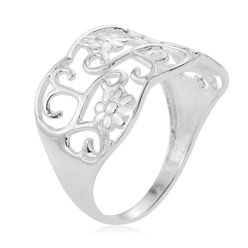Sterling Silver Filigree Ring, Silver wt 3.52 Gms.
