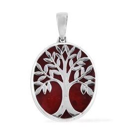 Royal Bali Collection Sponge Coral Tree of Life Pendant in Sterling Silver