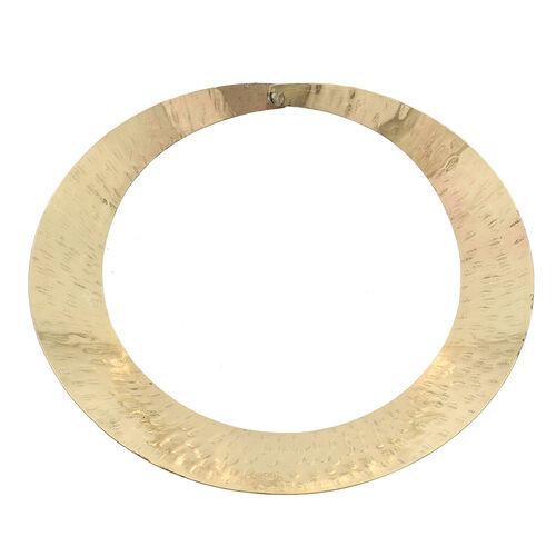 Shiny Brass Collar Neckalce (Size 16)