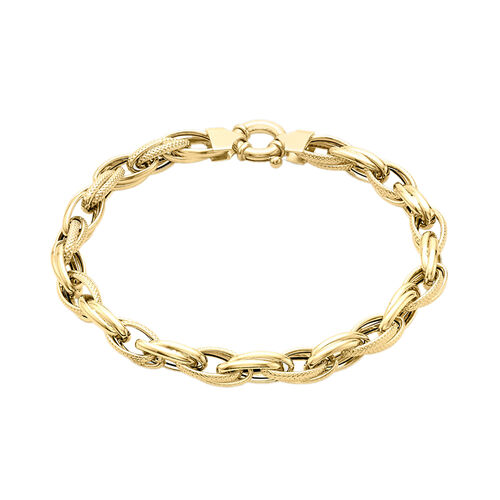Limited Edition- 9K Yellow Gold Belcher Bracelet (Size 7.5) Gold Wt  5.80 Grams