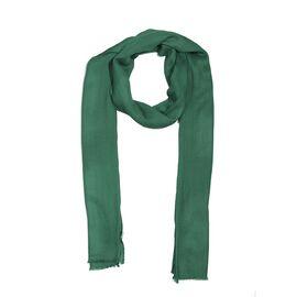 100% Cashmere Wool Dark Green Colour Scarf (Size 200x70 Cm)