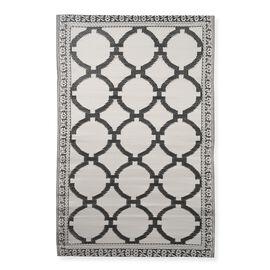 Grey Colour Moroccan Pattern Jacquard Woven Mat (Size 90x150 Cm)